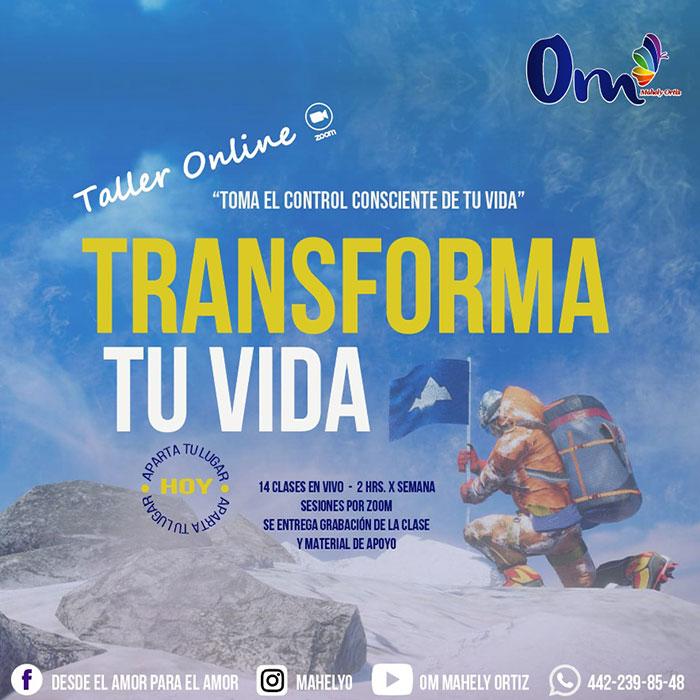 Taller Transforma tu Vida - Mahely Ortiz